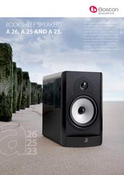 Boston Acoustics A 25 BAA25BK Leaflet