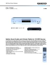 ONKYO DX-7355 Leaflet