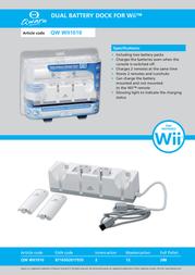 Qware Dual battery dock incl. 2 batt. QW WII1010 Leaflet