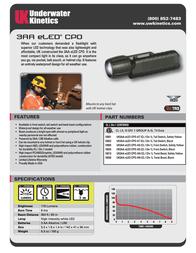 Underwater Kinetics UK3AA eLED CPO Front Switch 10024 Leaflet