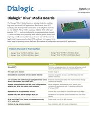 Eicon Diva V-4PRI/E1-120 306-251 Data Sheet