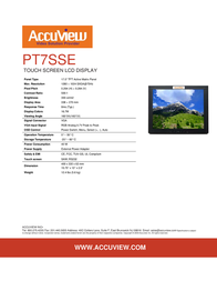 """Accuview 17"""" PT7SSE Leaflet"""