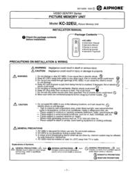 Aiphone KC-32EU User Manual
