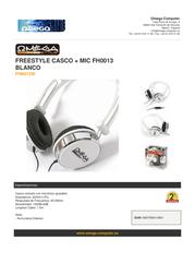 Omega FH0013W Leaflet