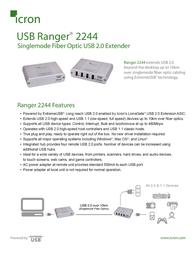 Icron USB Ranger 2244 00-00265 Leaflet