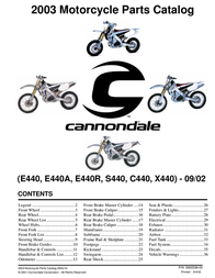 Cannondale C440 User Manual