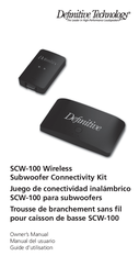 Definitive Technology Car Stereo System Wireless Subwoofer Connectivity Kit User Manual