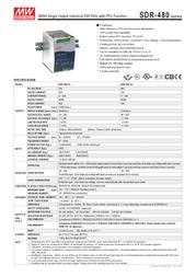 MEAN WELL SDR-480-24 Data Sheet