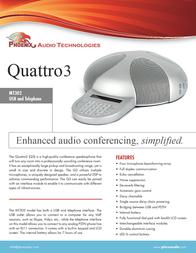 Phoenix Audio Quattro3 MT302 Leaflet