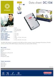 Sitecom ISDN USB Adapter DC-104 Leaflet
