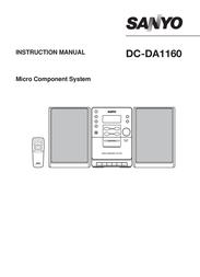 Sanyo Micro Hi-fi System - 10 Watts DC-DA1160 DCDA1160 User Manual