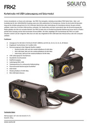 Soulra Frx2 Crank Radio With Solar And Usb 69538 Data Sheet