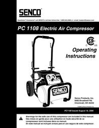 Senco WARRANTY PC1108 User Manual