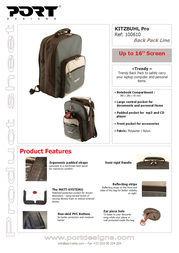 Port Designs Back Pack Line bag KITZBUHL Pro 100610 Leaflet