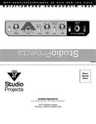 Studio Projects vtb1 User Manual
