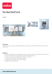 Nobo Pro Rail Shelf Unit 1901235 Leaflet