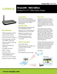 Warpia Stream HD SWP130A SWP130A Leaflet
