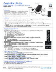 Smarthome Car Satellite TV System 2411R Leaflet