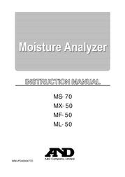 A&D MF-50 User Manual