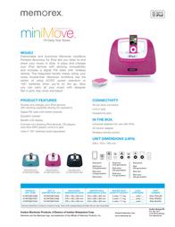 Memorex miniMove Mix3 MI3X-TEALEU Leaflet