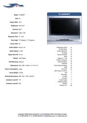 Phoenix TL2689RT - 26 inch TECO LCD Television TL2689RT Leaflet