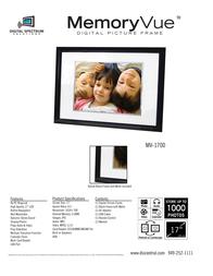 "Digital Spectrum 17"" MV-1700 Plus, Digital Photoframe, Gold U-40132 Leaflet"