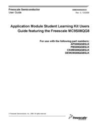 Freescale Semiconductor Student Learning Kit with MC9S08QG8 DEMO9S08QG8E DEMO9S08QG8E User Manual