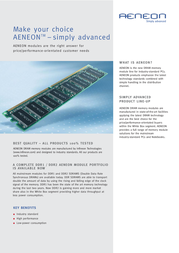 Aeneon DDR2 Aeneon 512Mb 533 CL4.0 AET660UD00-370 Leaflet