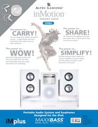 Altec Lansing inMotion™ portable audio system IMPLUS Leaflet