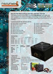 Rasurbo Silent & Power DLP435 - 430 W DLP435 Leaflet