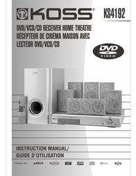 Koss KS4192 User Manual