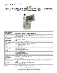 SVP dv-12p Specification Guide