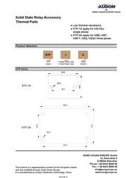 Kudom Heat Pad Coa 1A For Relay Ssr KTP-1A Data Sheet