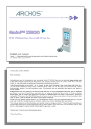 Archos MM ARCHOS MP3 Gmini XS 100 Silver 3Gb 500713 User Manual
