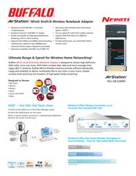 Buffalo Nfiniti Wireless-N Notebook Adapter WLI-CB-G300N-3 Leaflet