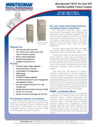 Minute Man MCP 6001 MCP6001 Leaflet