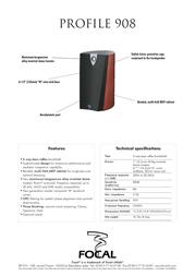 Focal Profile 908 908DB Merkblatt