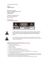 Rel Acoustics NO25 User Manual