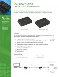 Icron USB Rover 2850 00-00312 Leaflet