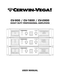 Cerwin-Vega CV-1800 User Guide