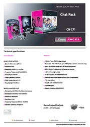 Canyon VOIP Chatpack webcam+headset CN-CP1 Leaflet