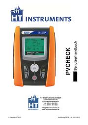 Ht Instruments PVCHECKSolar meter, photovoltaic meter 1009500 User Manual