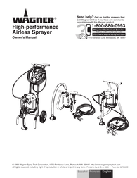 Wagner high-performance airless sprayer User Manual