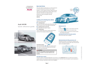 Audi s5 Quick Reference Card