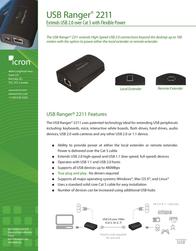 Icron USB Ranger 2211 00-00316 Leaflet