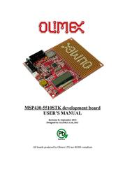 Olimex Starterkit development board with LCD, UEXT, USB, SD-CARD, Battery charger MSP430-5510STK MSP430-5510STK User Manual