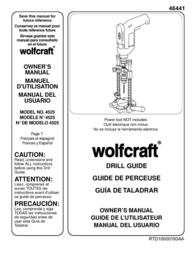 Wolfcraft 4525 用户手册