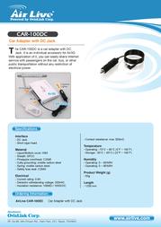 AirLive CAR-100DC Leaflet