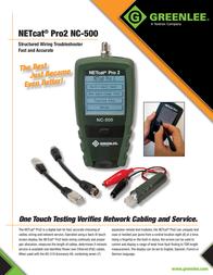 Greenlee NC-500 Data Sheet
