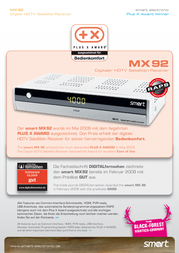 Smart MX92 22-01-01-0020 Leaflet
